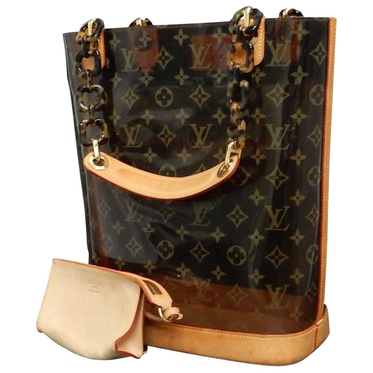 78e1c20ff059 Louis vuitton pre owned brown plastic handbag in brown lyst jpg 1210x1210 Louis  vuitton plastic purse
