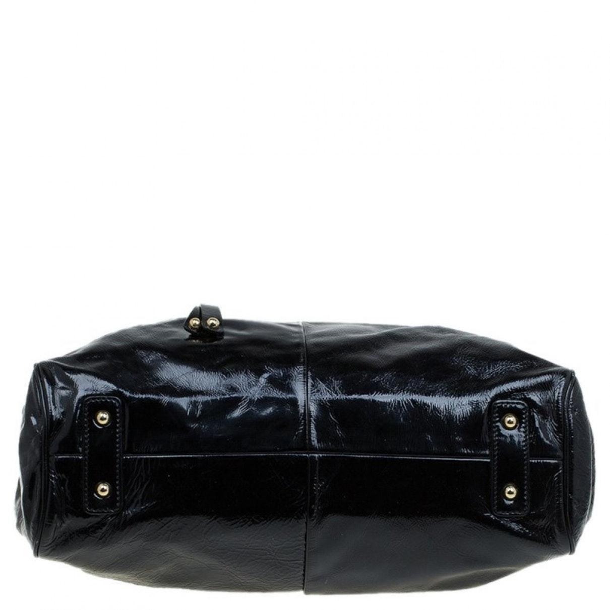 Sac à main Stam en Cuir verni Noir Cuir Marc Jacobs en coloris Noir xTO8