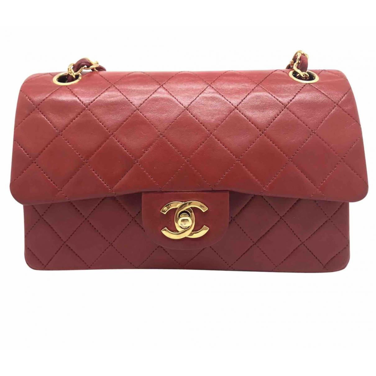 Chanel Women S Pre Owned Vintage Timeless Red Leather Handbag