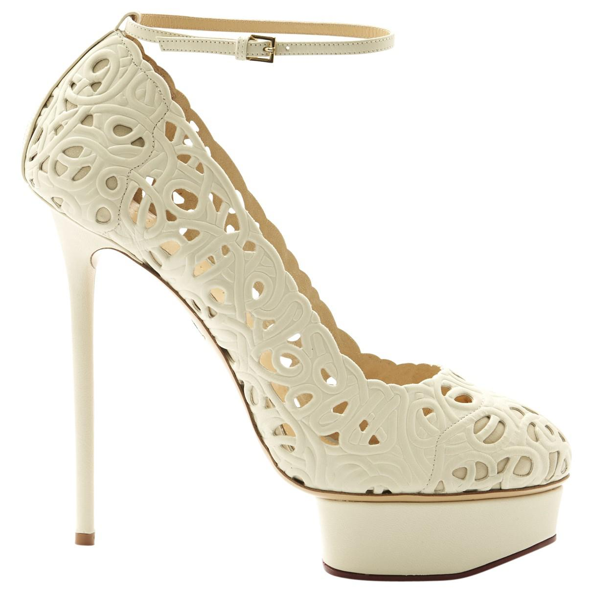 Hot Sale Cheap Online Pre-owned - Leather heels Charlotte Olympia For Sale Cheap Price uwNx2fI