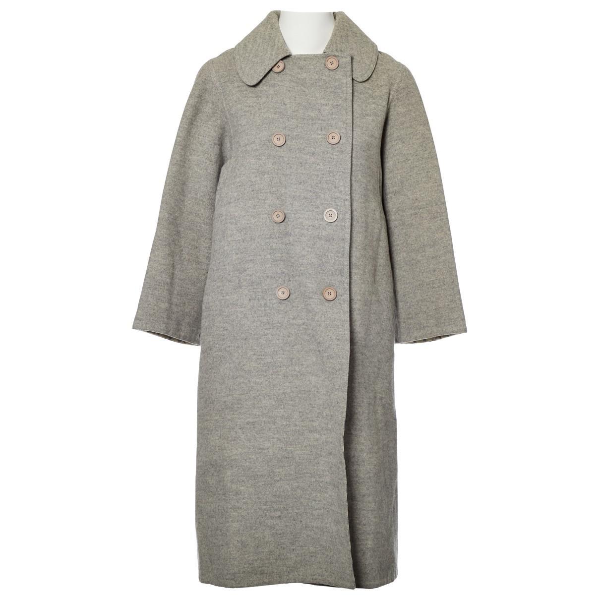 Lyst - Hermès Wool Coat in Gray 0f337accf349c