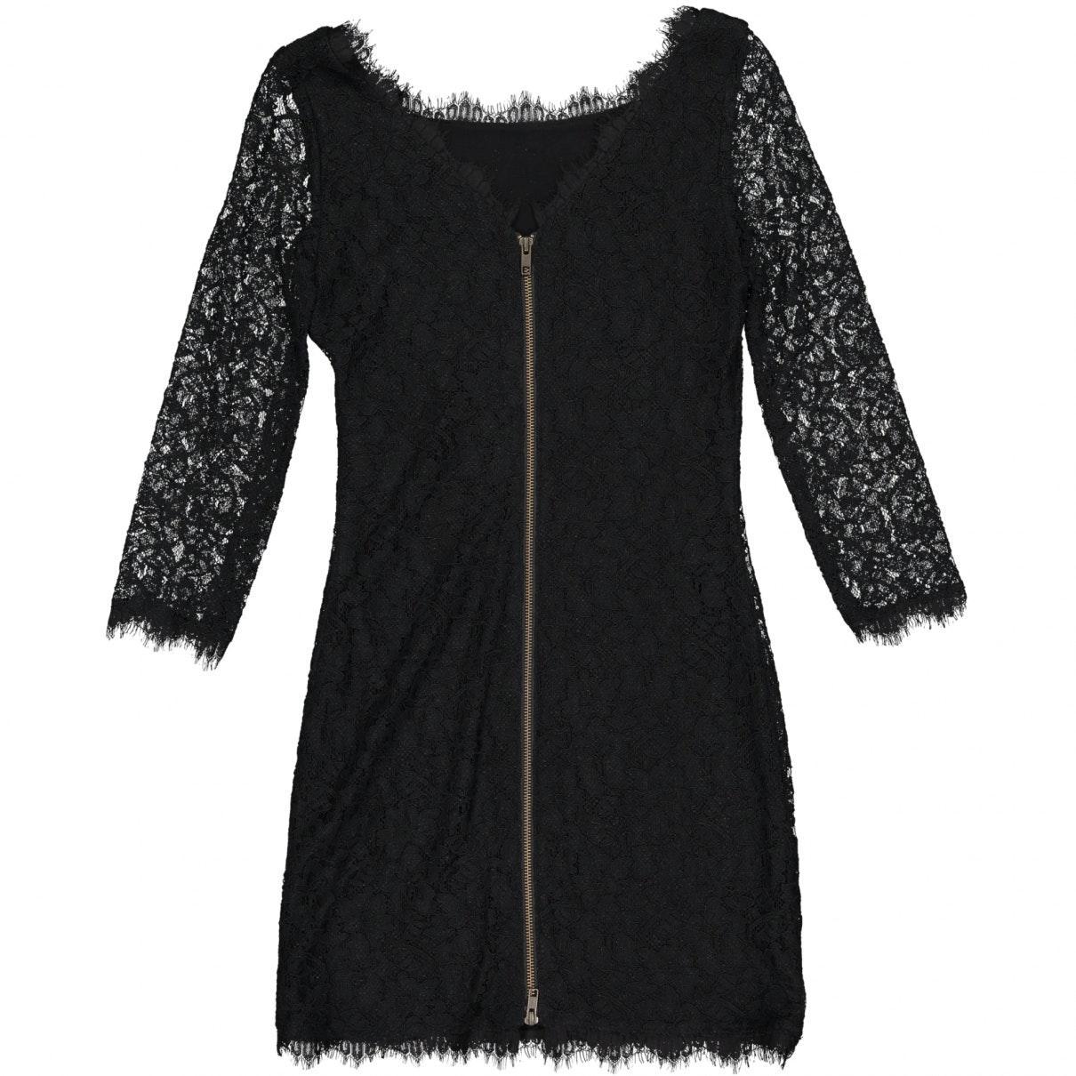 Robe en Synthétique Noir Dentelle Diane von Furstenberg en coloris Noir