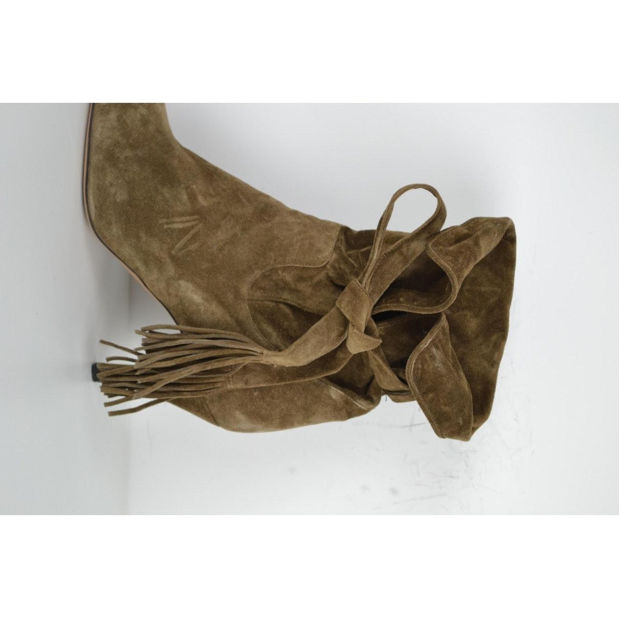 Botines en ante marrón Chloé de Ante de color Marrón