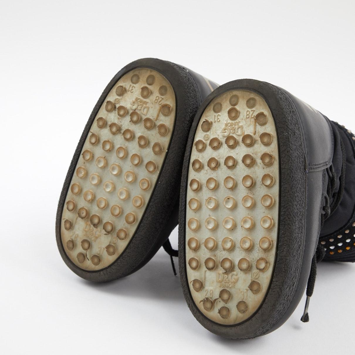 Botas de Cuero Dolce & Gabbana de Cuero de color Negro