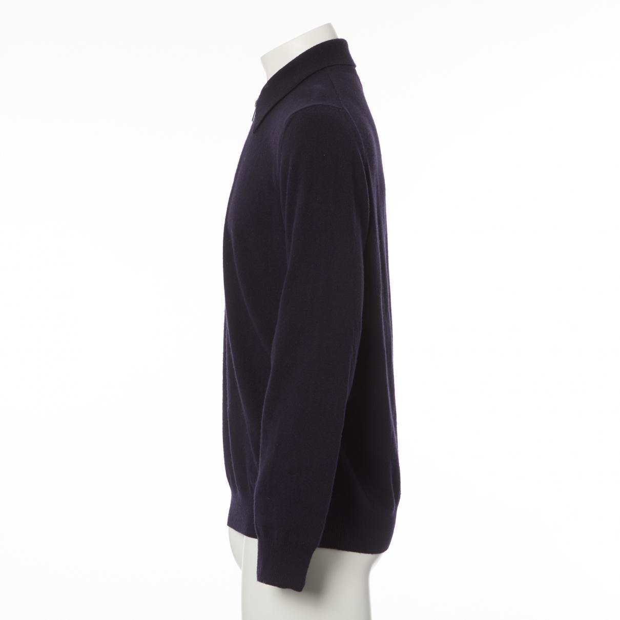 Hermès Cashmere Pull in Navy (Blue) for Men