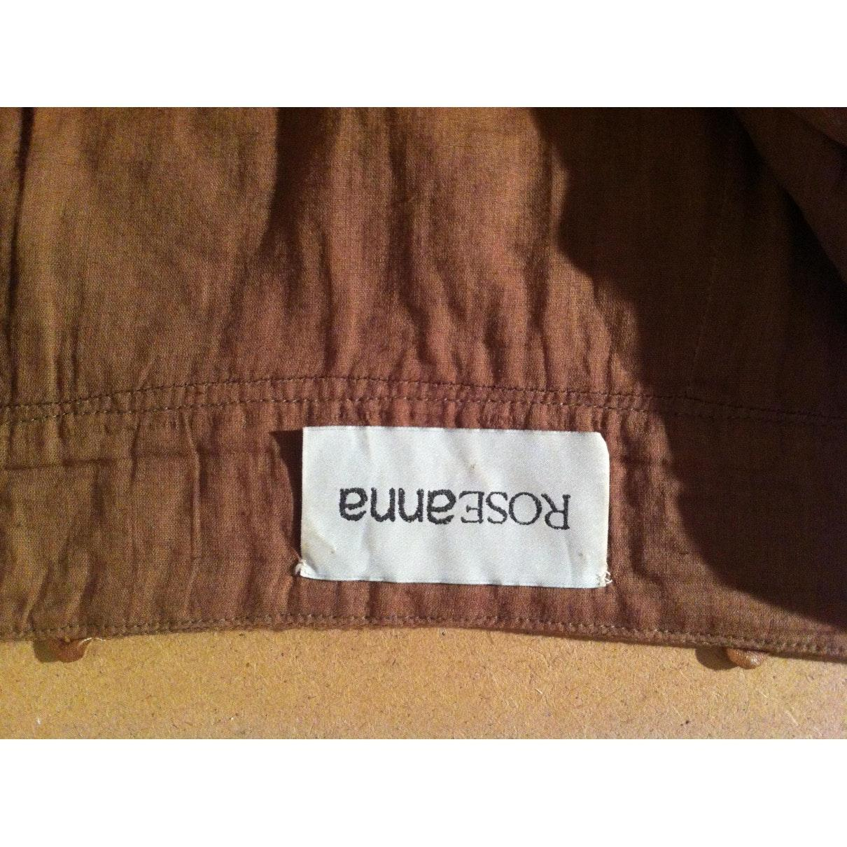 Falda en cuero marrón N Roseanna de Cuero de color Marrón