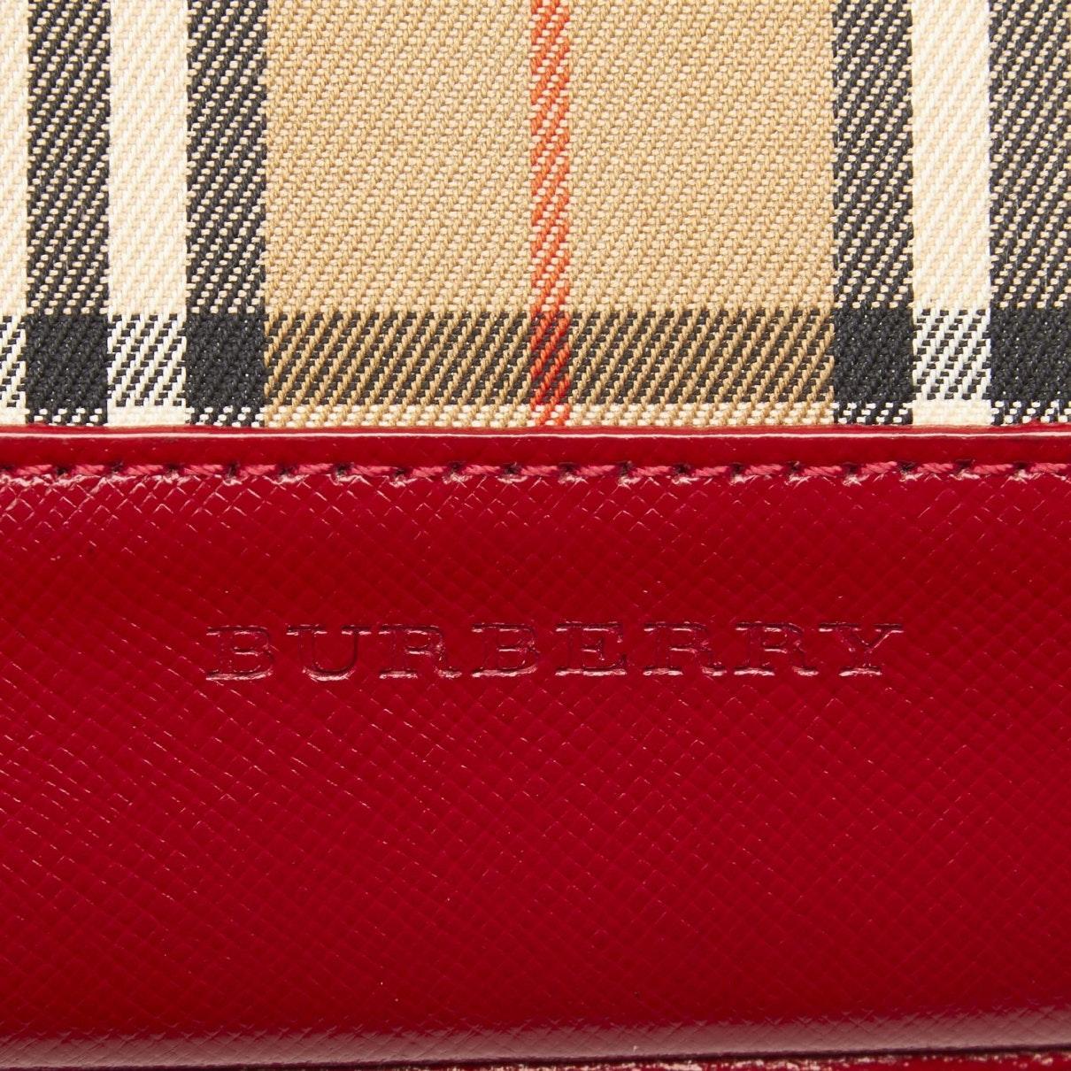 Sac à main en Toile Marron Burberry en coloris Rouge USAj