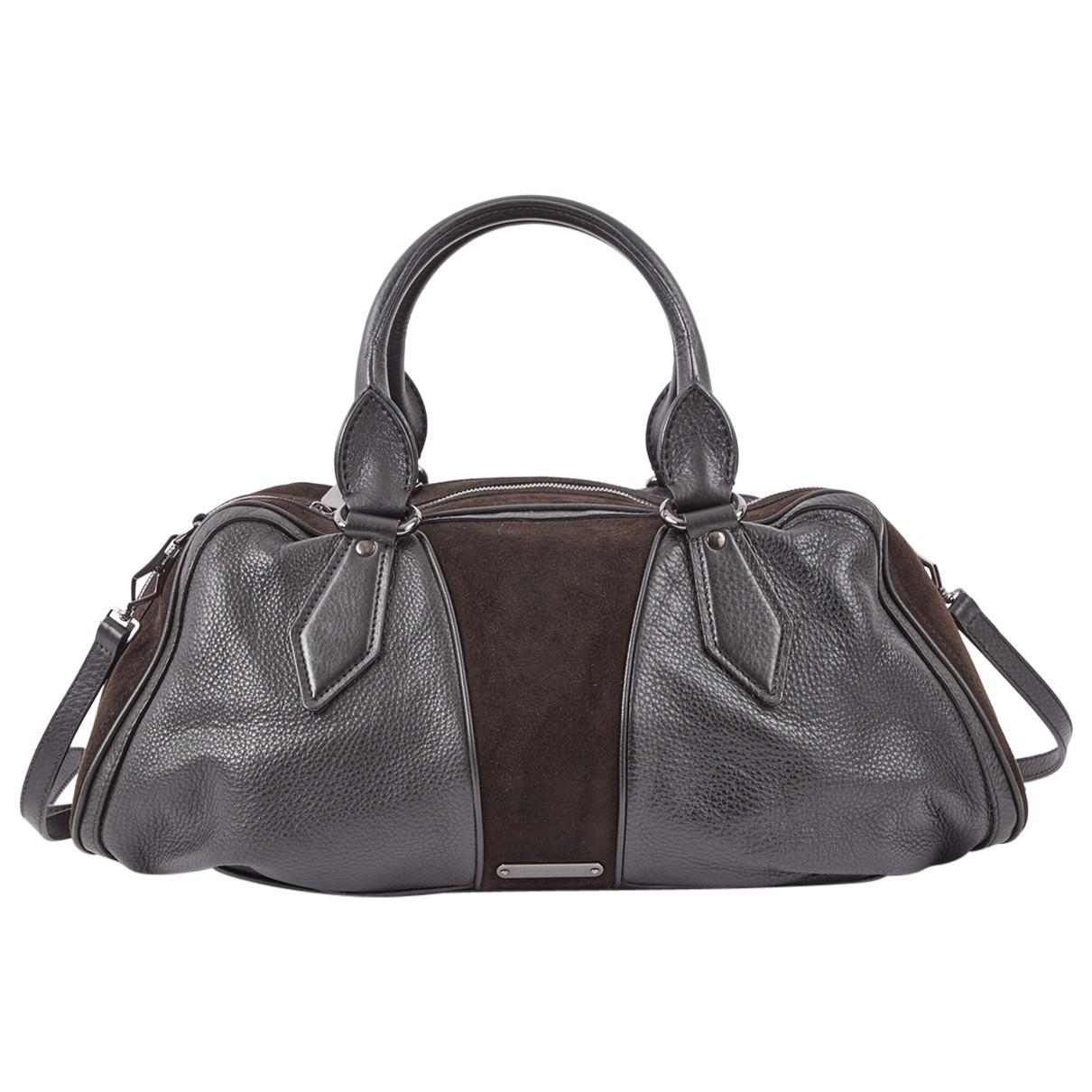 012927ab9f8a Burberry Leather Bowling Bag in Black - Lyst
