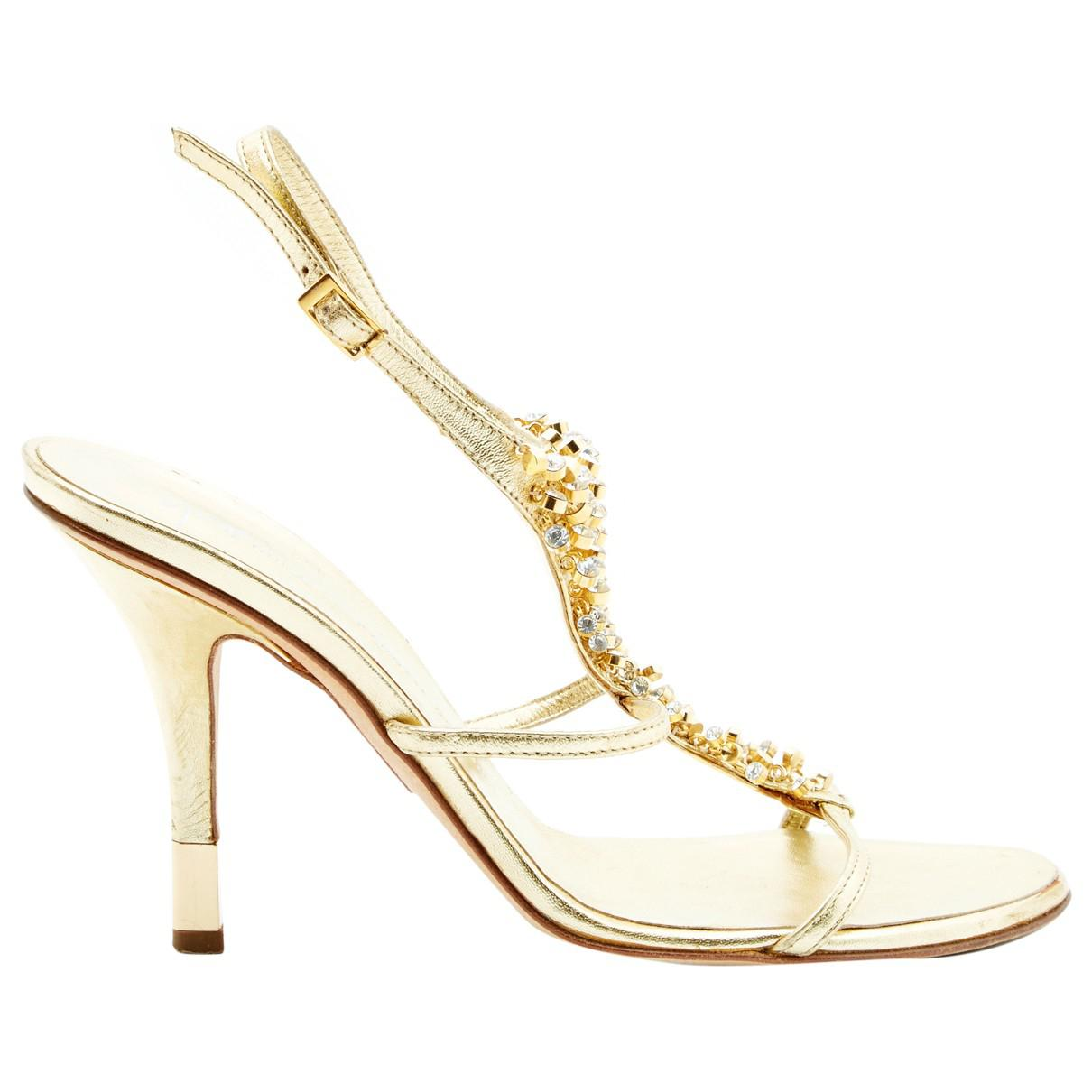 e87d4a5394 Lyst - Giuseppe Zanotti Leather Sandals in Metallic