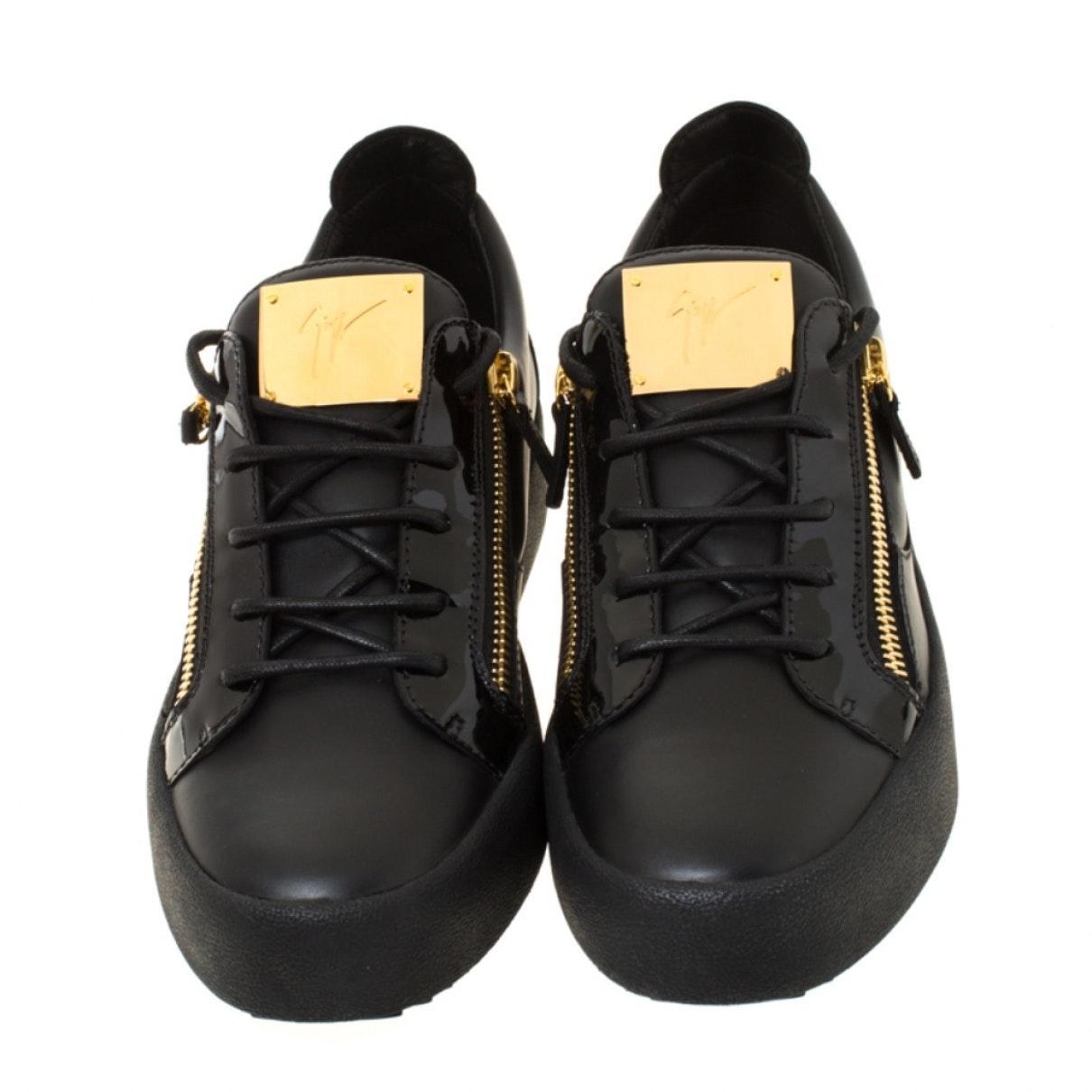 Deportivas en cuero negro Giuseppe Zanotti de Cuero de color Negro para hombre