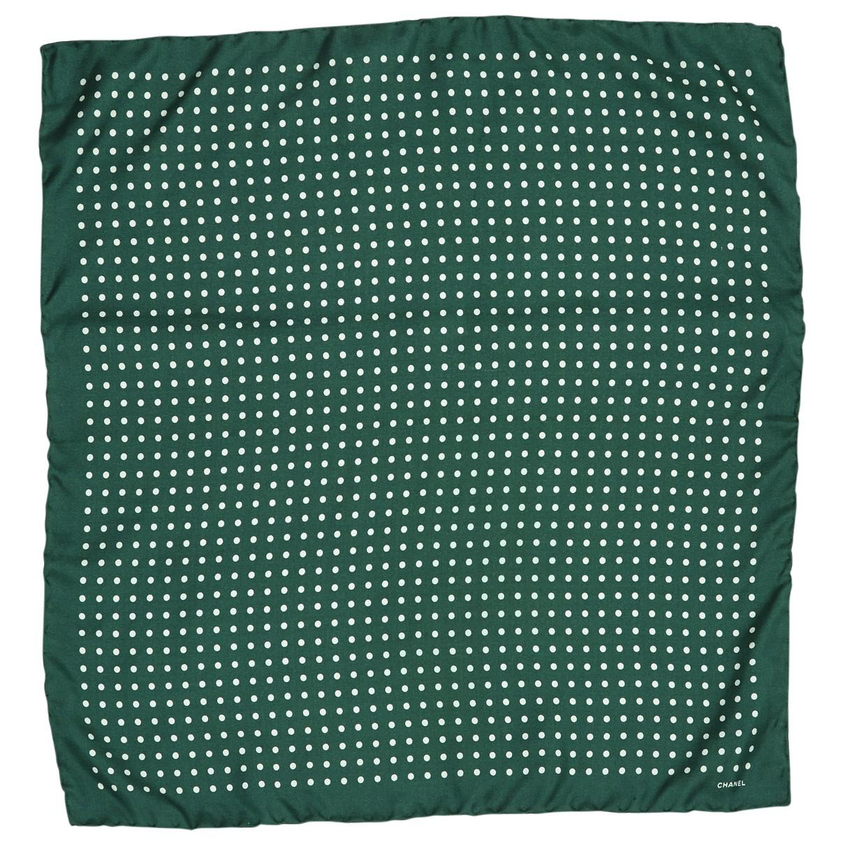 31c5c7e1790 Chanel Green Silk Scarves   Pocket Squares in Green for Men - Lyst