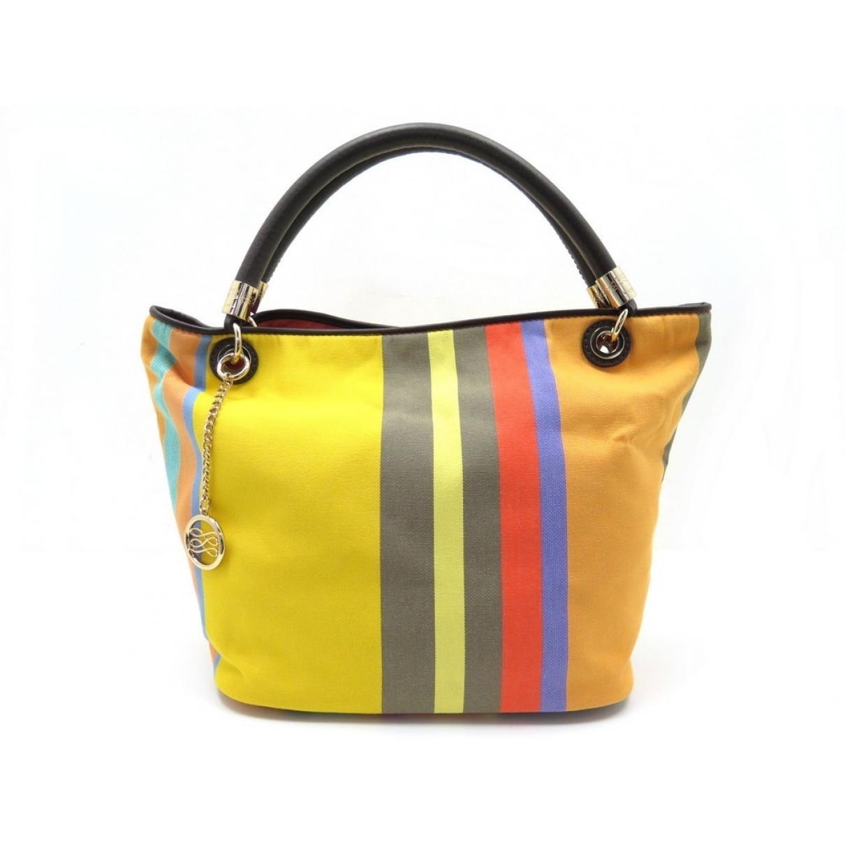 2ccabc912f45 Lancel. Women s Yellow French Flair Multicolour Cloth Handbag. £201 From Vestiaire  Collective