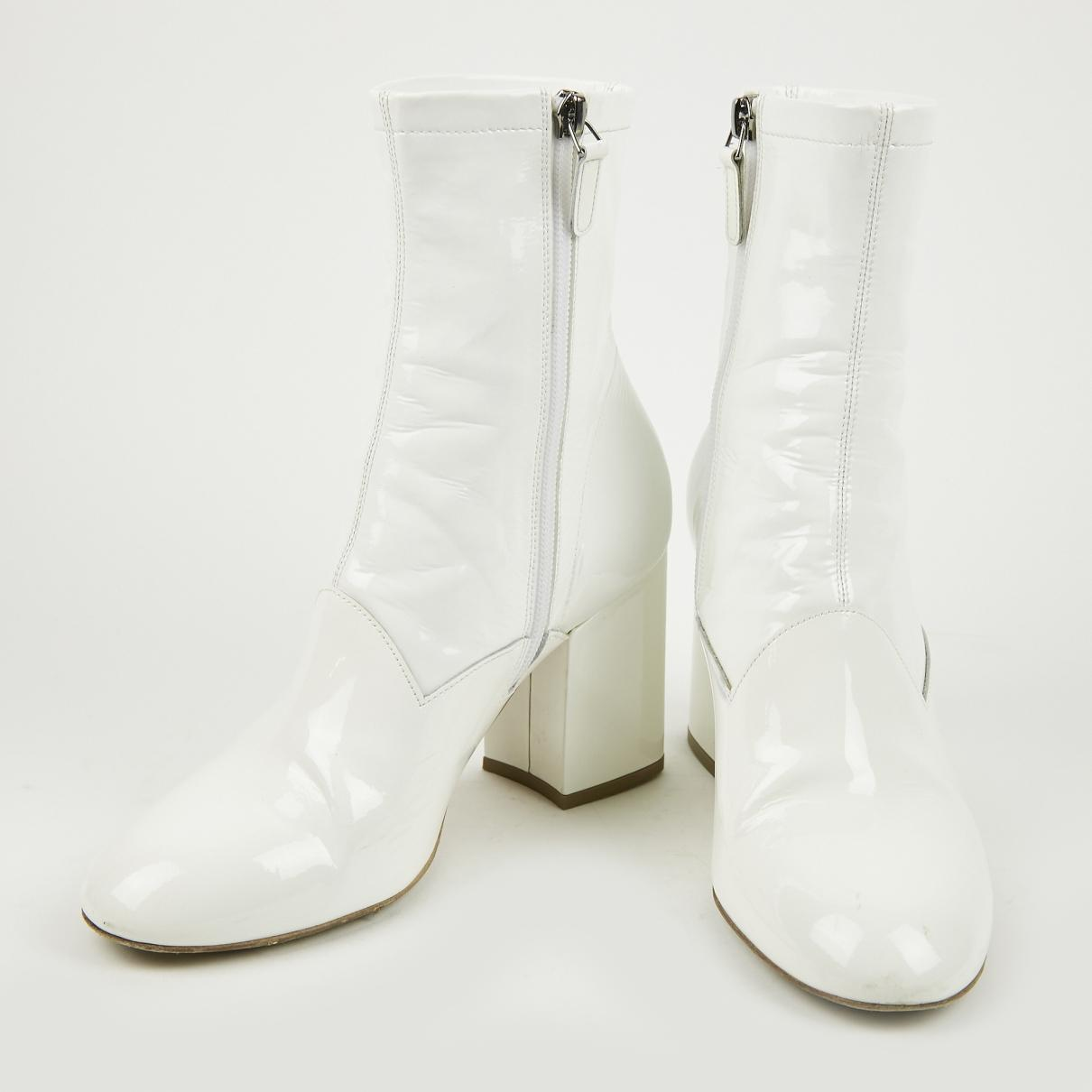 8a4f07922fa Laurence Dacade - White Patent Leather Boot - Lyst. View fullscreen