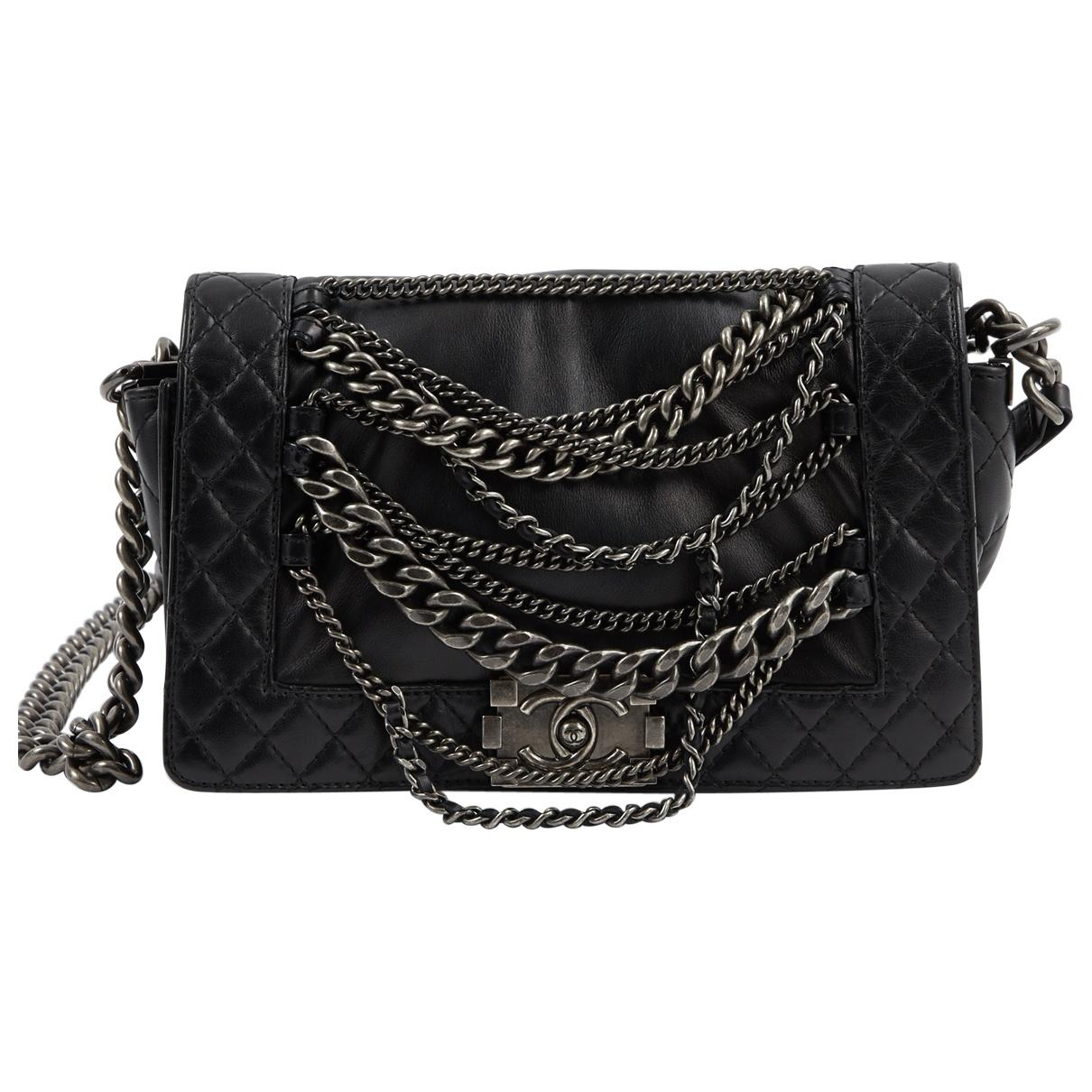 3a00be92677c Chanel. Women's Black Boy Leather Crossbody Bag. $6,348 From Vestiaire  Collective