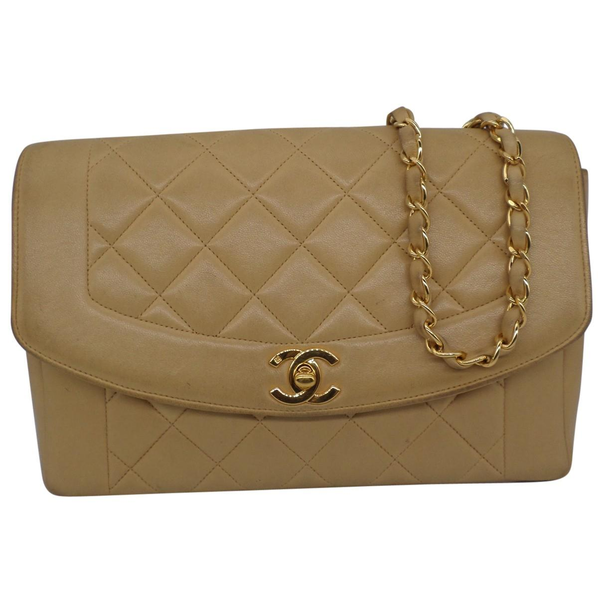 3a3ba345ec8a44 Lyst - Chanel Diana Leather Crossbody Bag in Natural