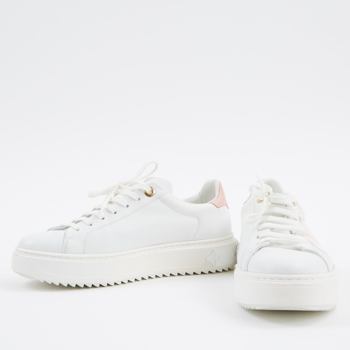 7ca0457334 Louis Vuitton Pre-owned Timeout White Leather Trainers