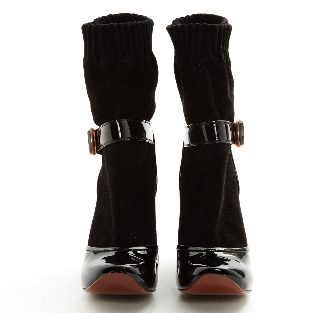 Botines en ante negro Marc Jacobs de Ante de color Negro