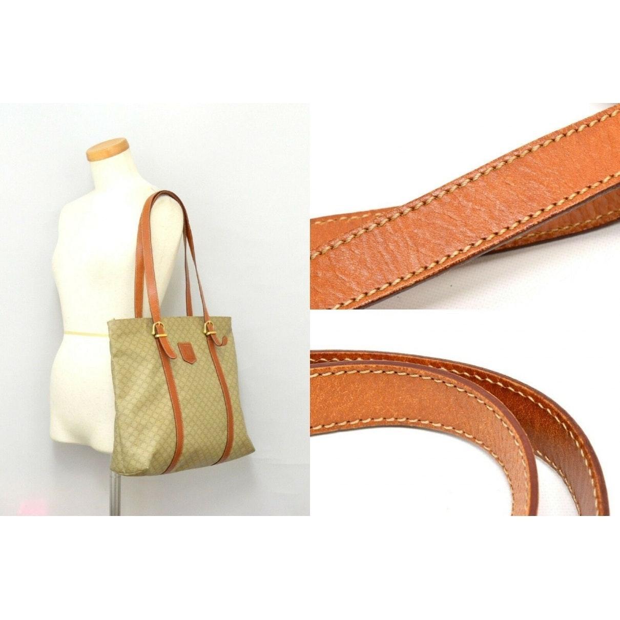 Celine Leinen Handtaschen in Braun 31kWb