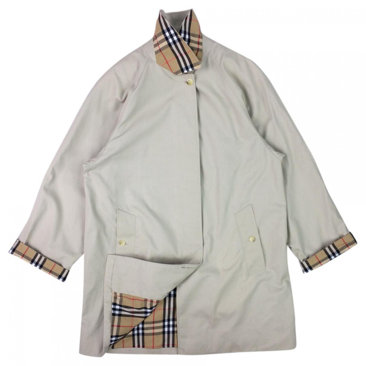 9e34abe9fc87 Burberry Pre-owned Beige Polyester Coat in Natural - Lyst