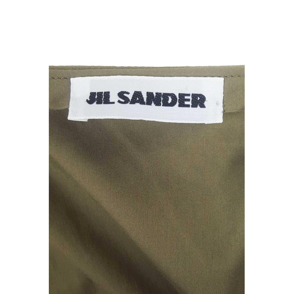 Falda midi Jil Sander de Algodón de color Verde