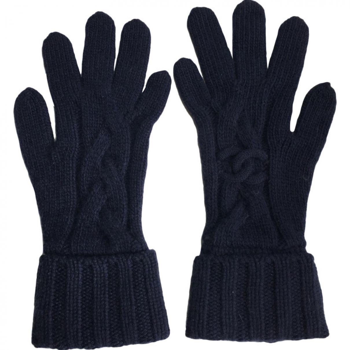 c0b03a39 Chanel Pre-owned Cashmere Gloves in Blue - Lyst