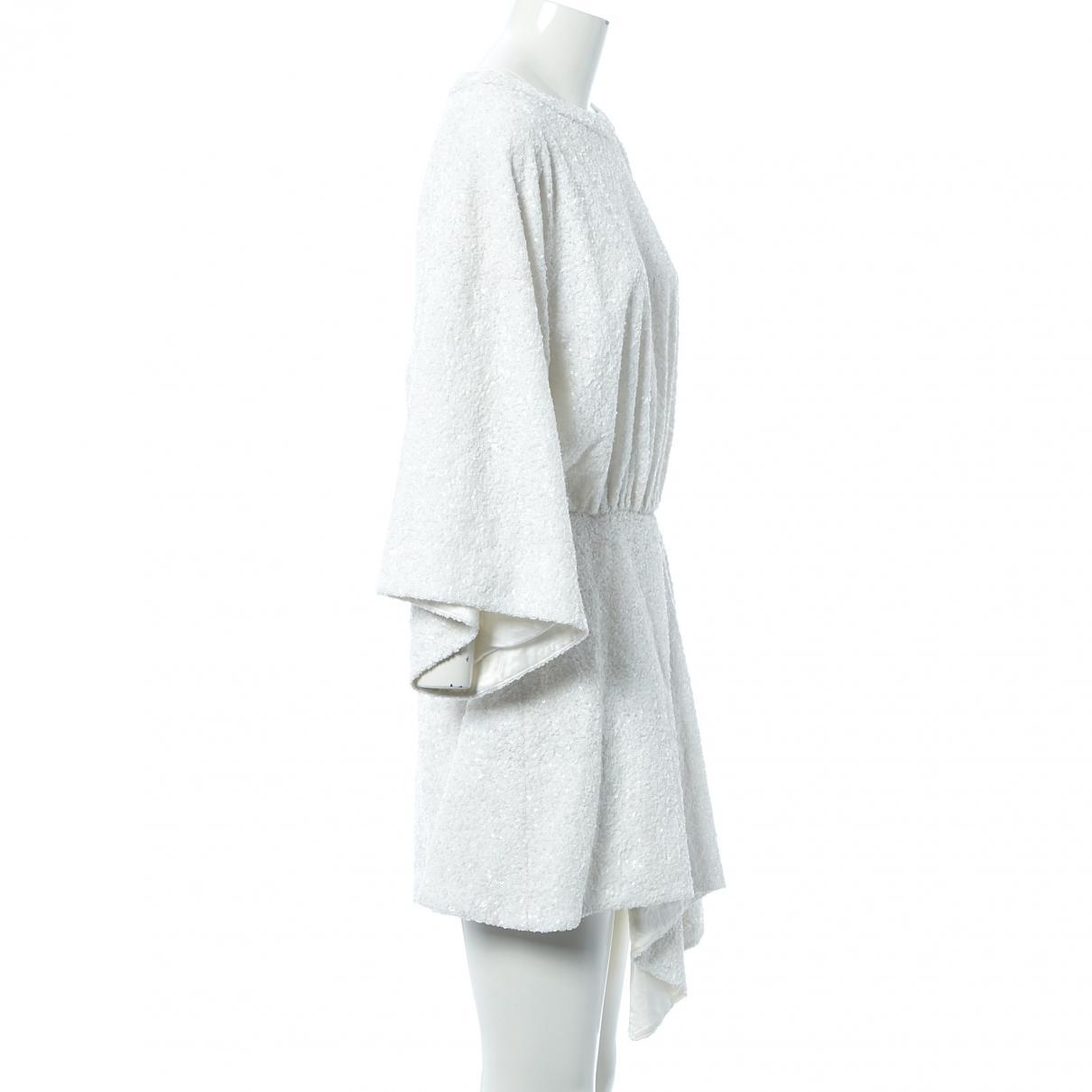 Zadig & Voltaire Synthetik Midi kleid in Weiß - Sparen Sie 27%
