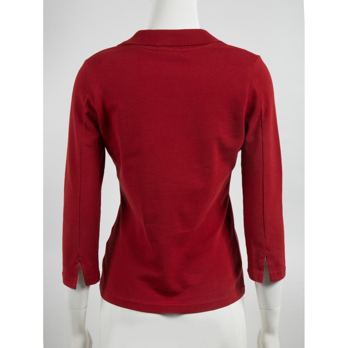 Polo Coton Burberry en coloris Rouge