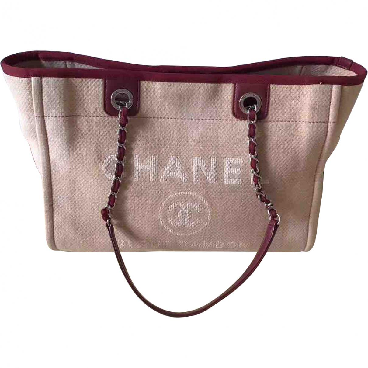 46b8b9c7171c Chanel Pre-owned Deauville Tote in Red - Lyst