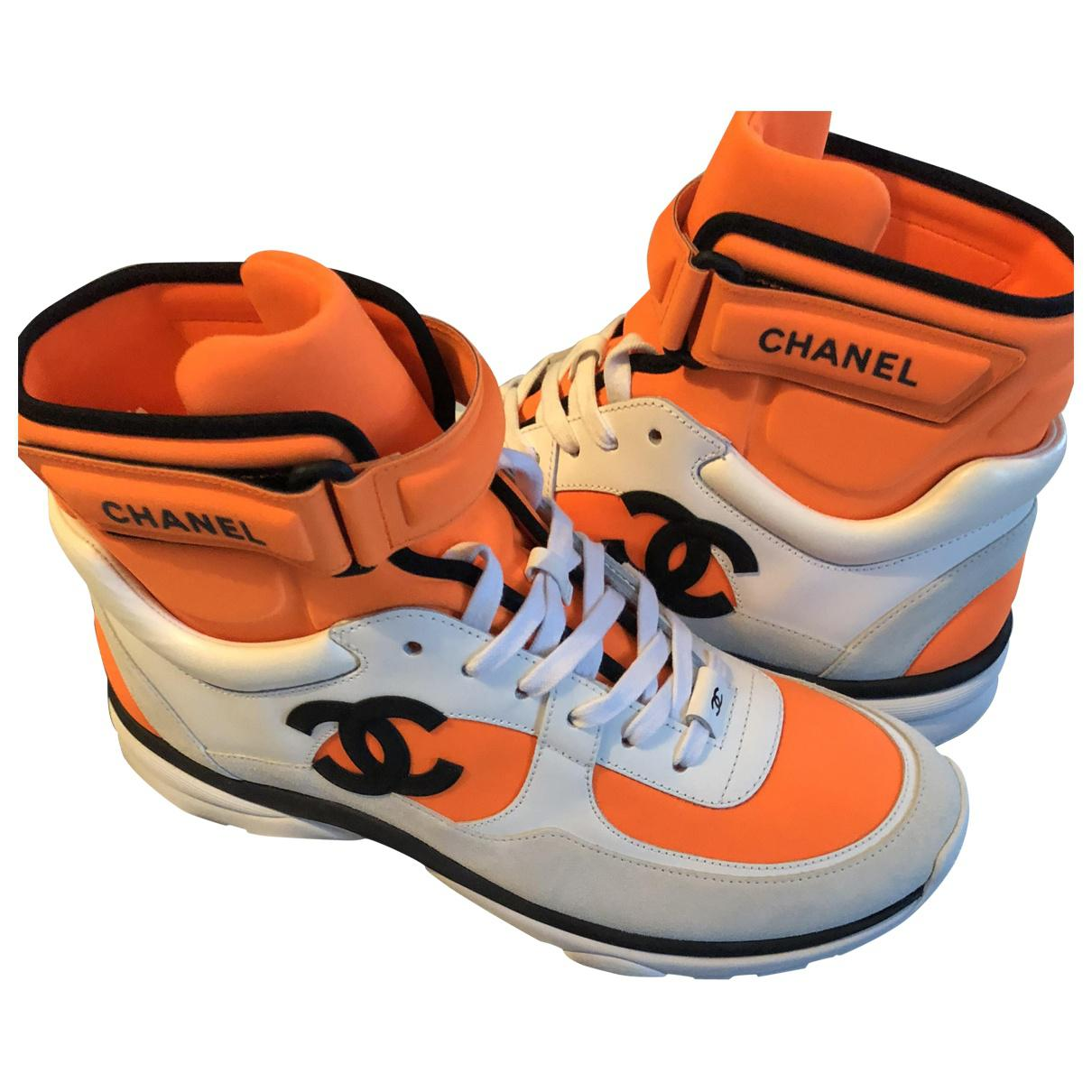 Chanel Trainers In Orange Lyst