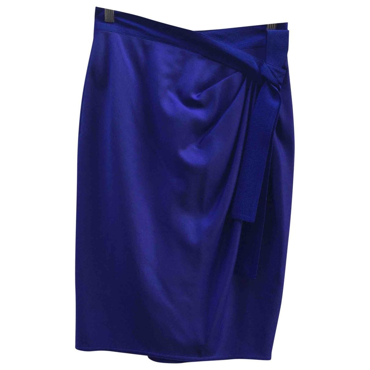 Versace Rock aus Wolle in Blau - Sparen Sie 38%