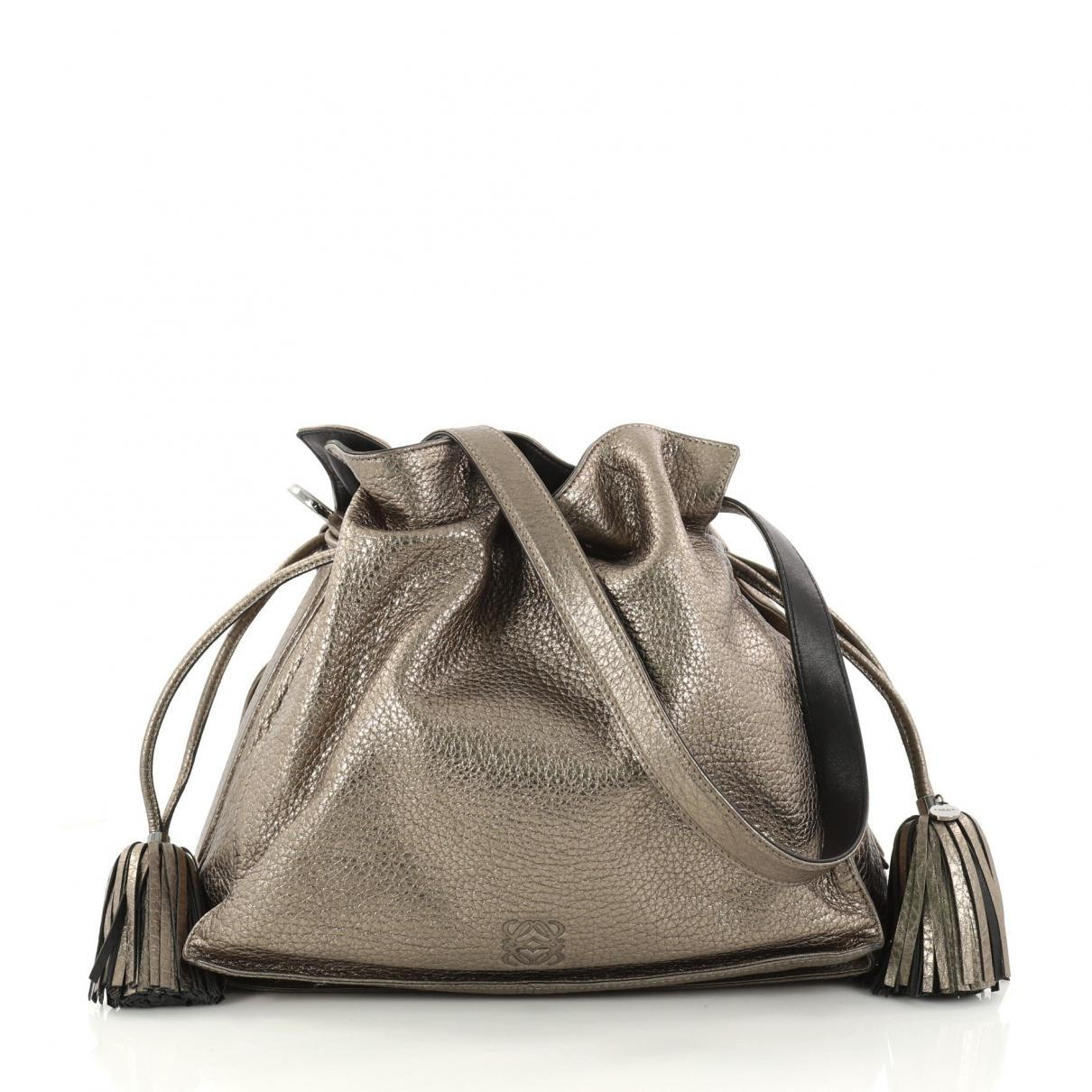 Pre-owned - Leather handbag Loewe Cheap Very Cheap Outlet Official Ekkrv6BH