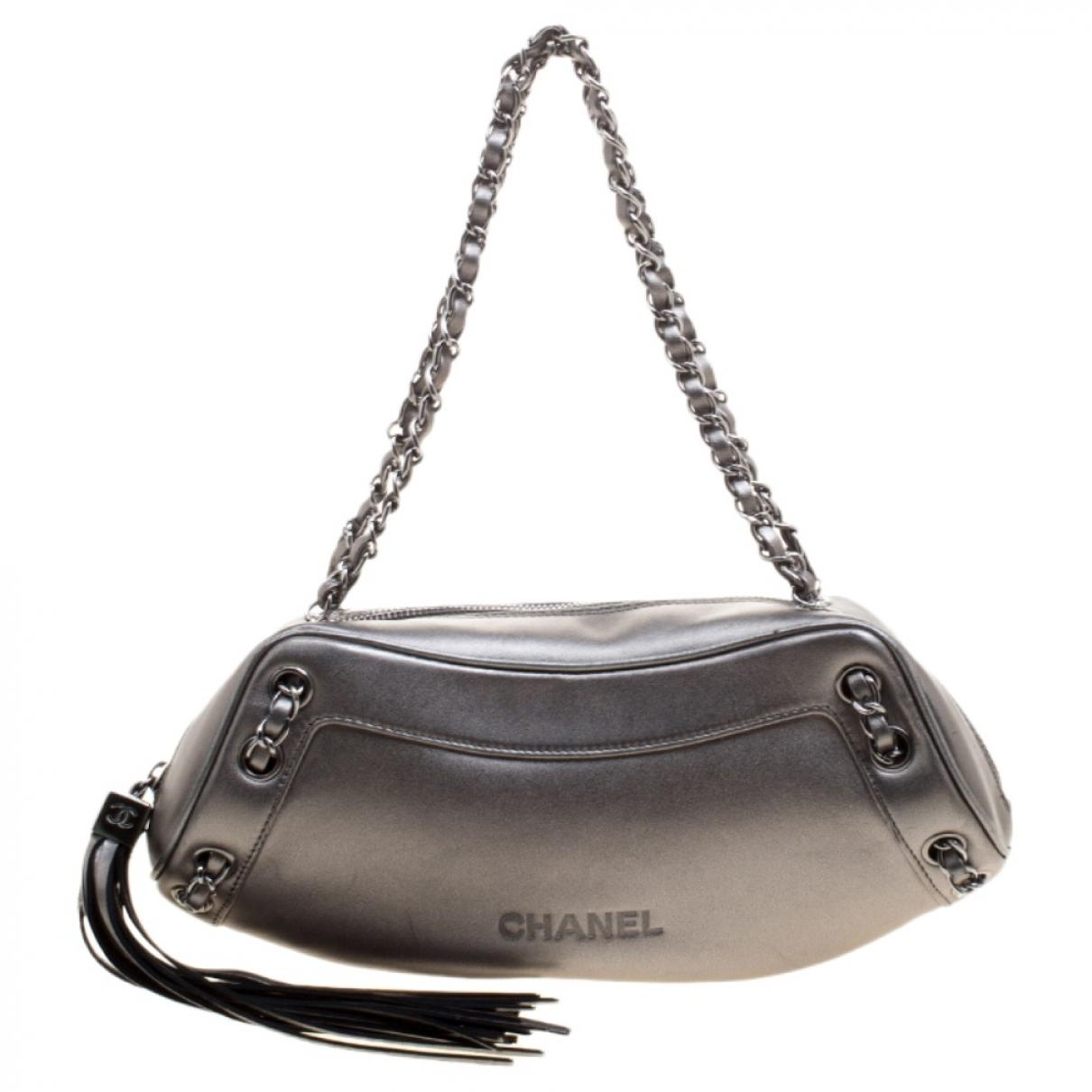 005bd52e07e2 Chanel Pre-owned Vintage Mademoiselle Grey Leather Handbags in Gray ...