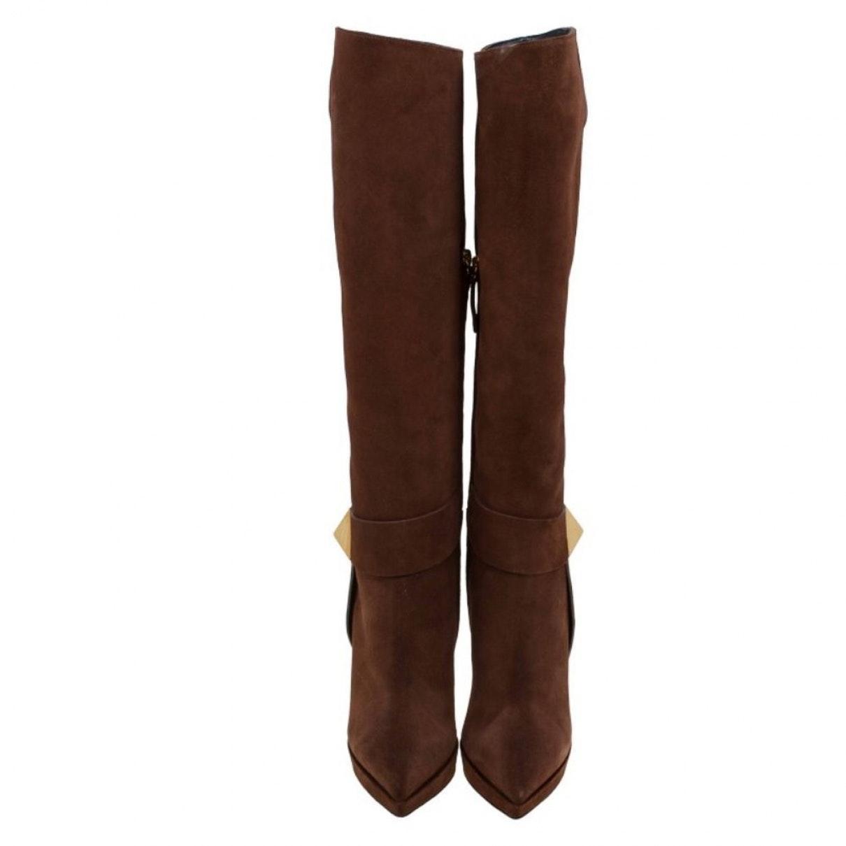 Botas en ante marrón Giuseppe Zanotti de Ante de color Marrón