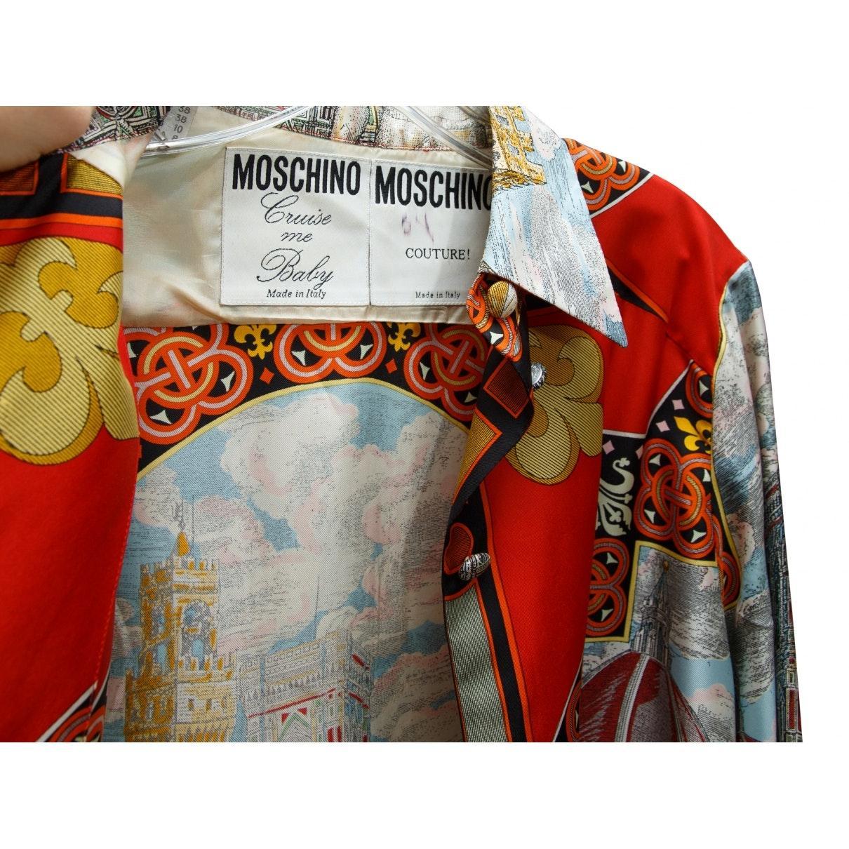 Camisa en seda multicolor Moschino de Seda
