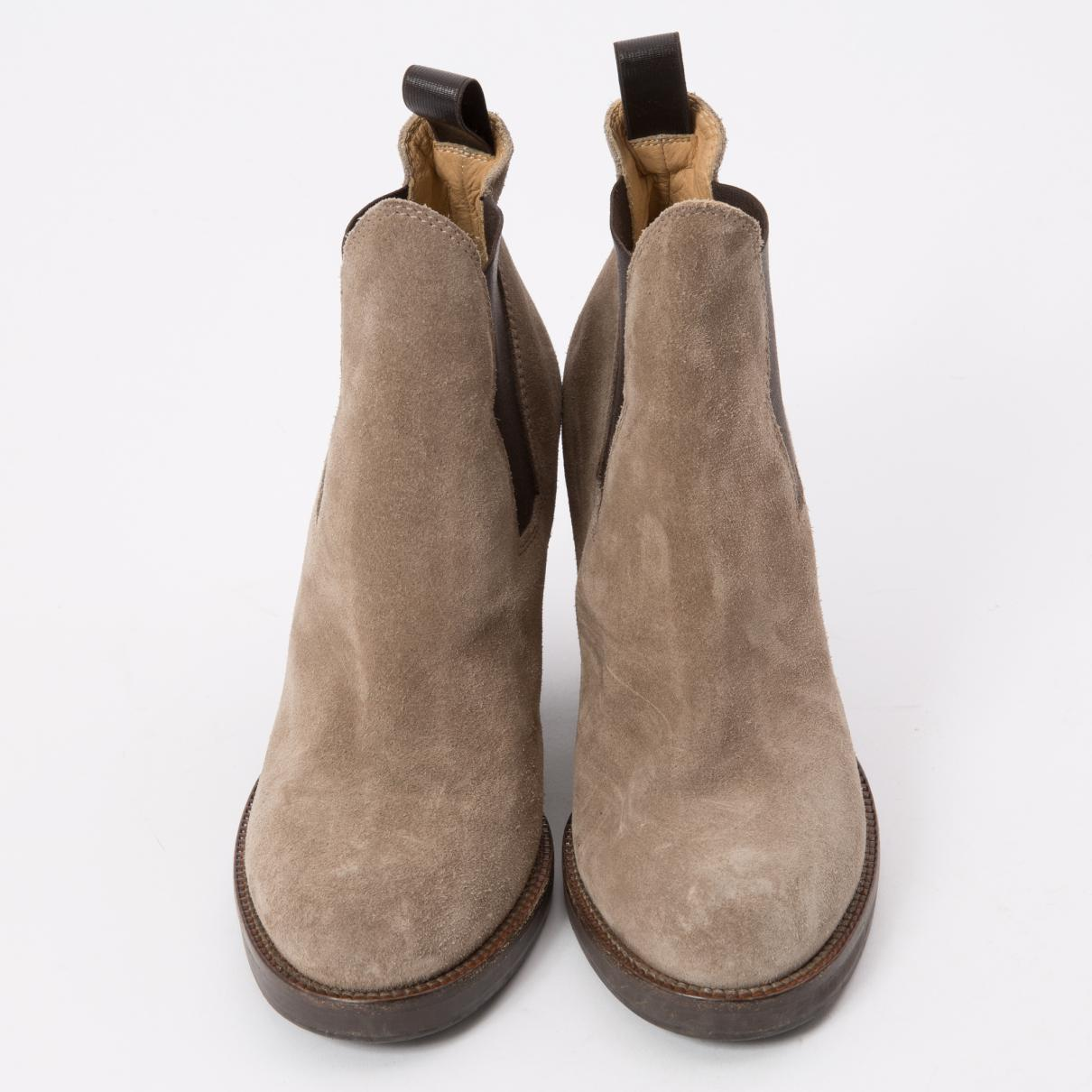 Acne Studios Pre-owned Star Grey Suede Ankle Boots in Grey