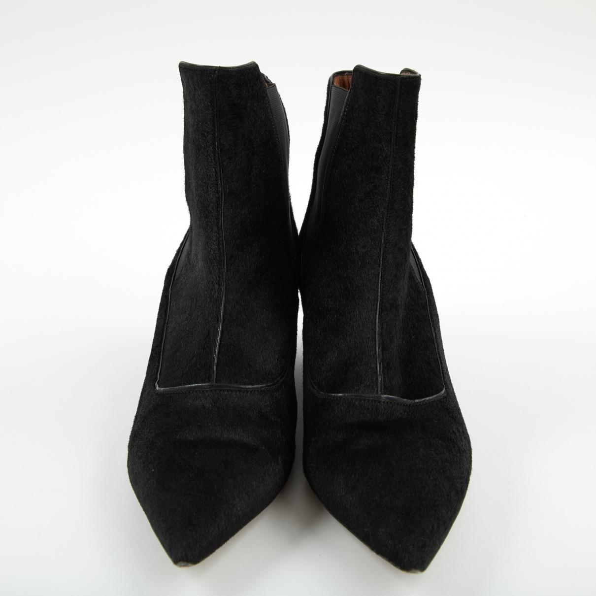 Botas de Piel de potro de imitación Tabitha Simmons de Cuero de color Negro