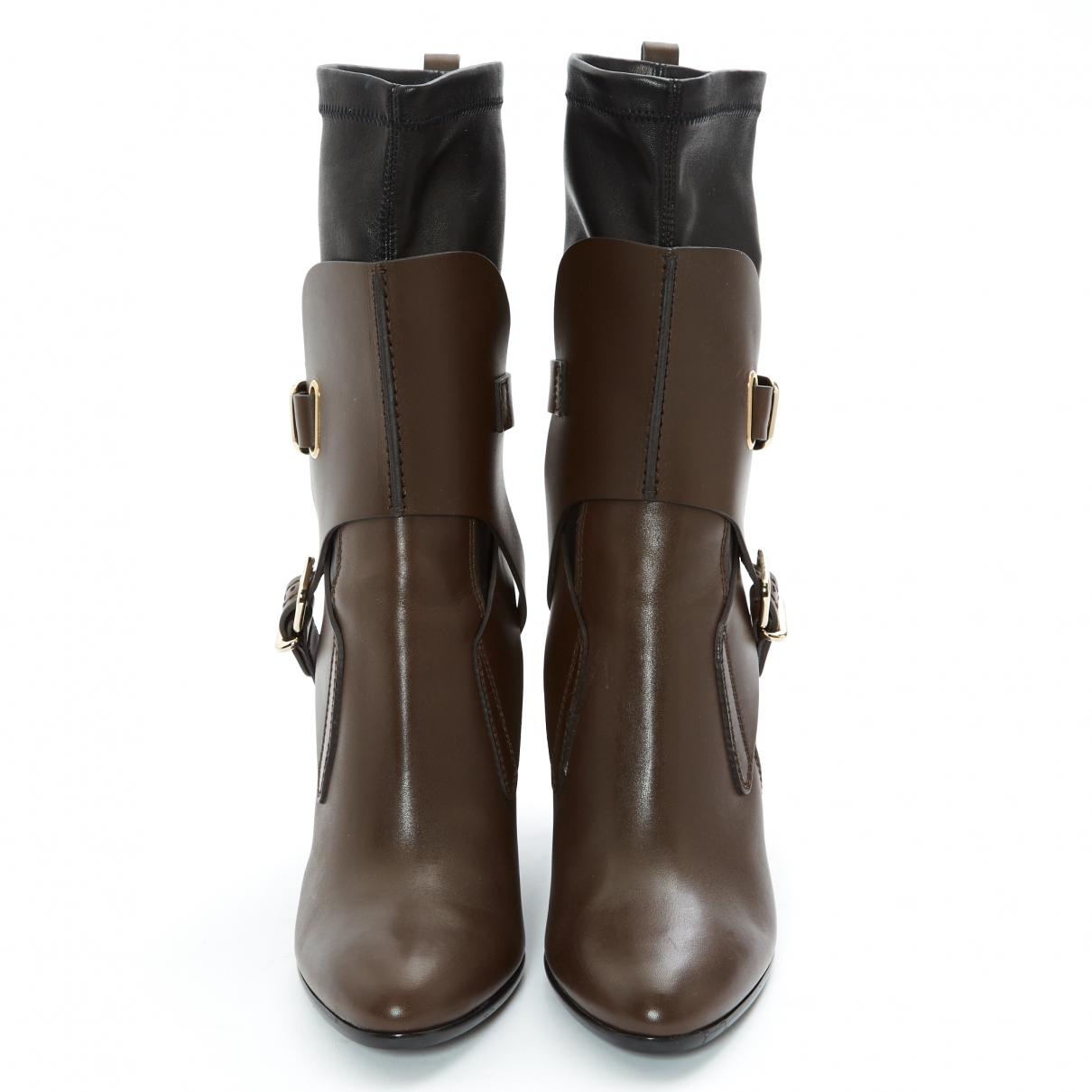 Tod's Pre-owned Leather Boots in Brown