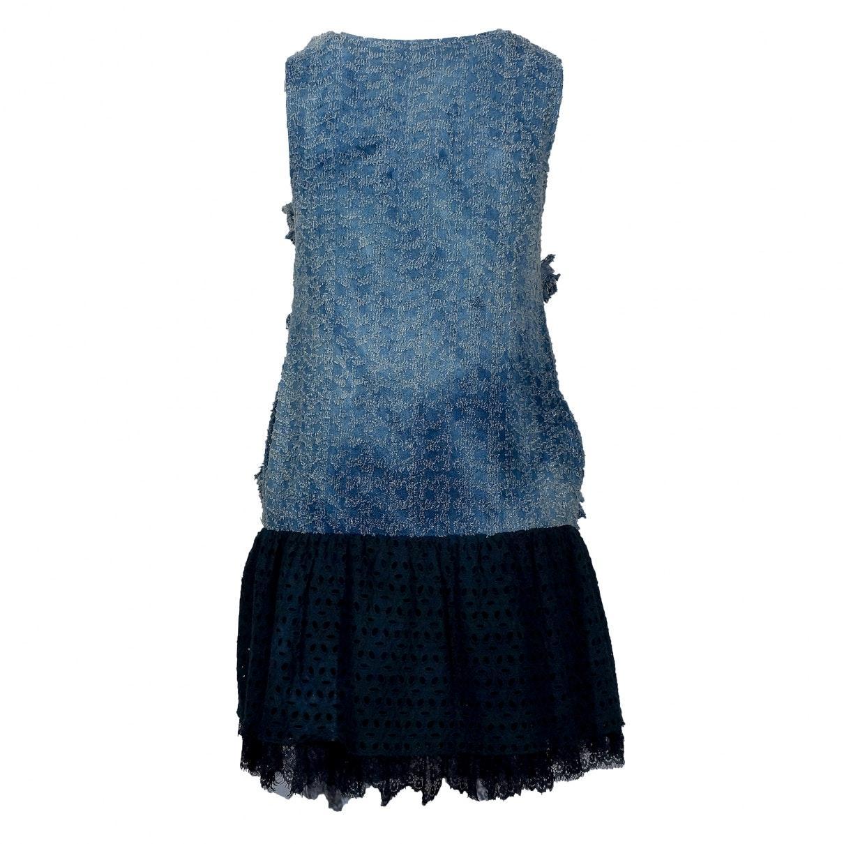 Vestido en algodón azul N Miu Miu de color Azul