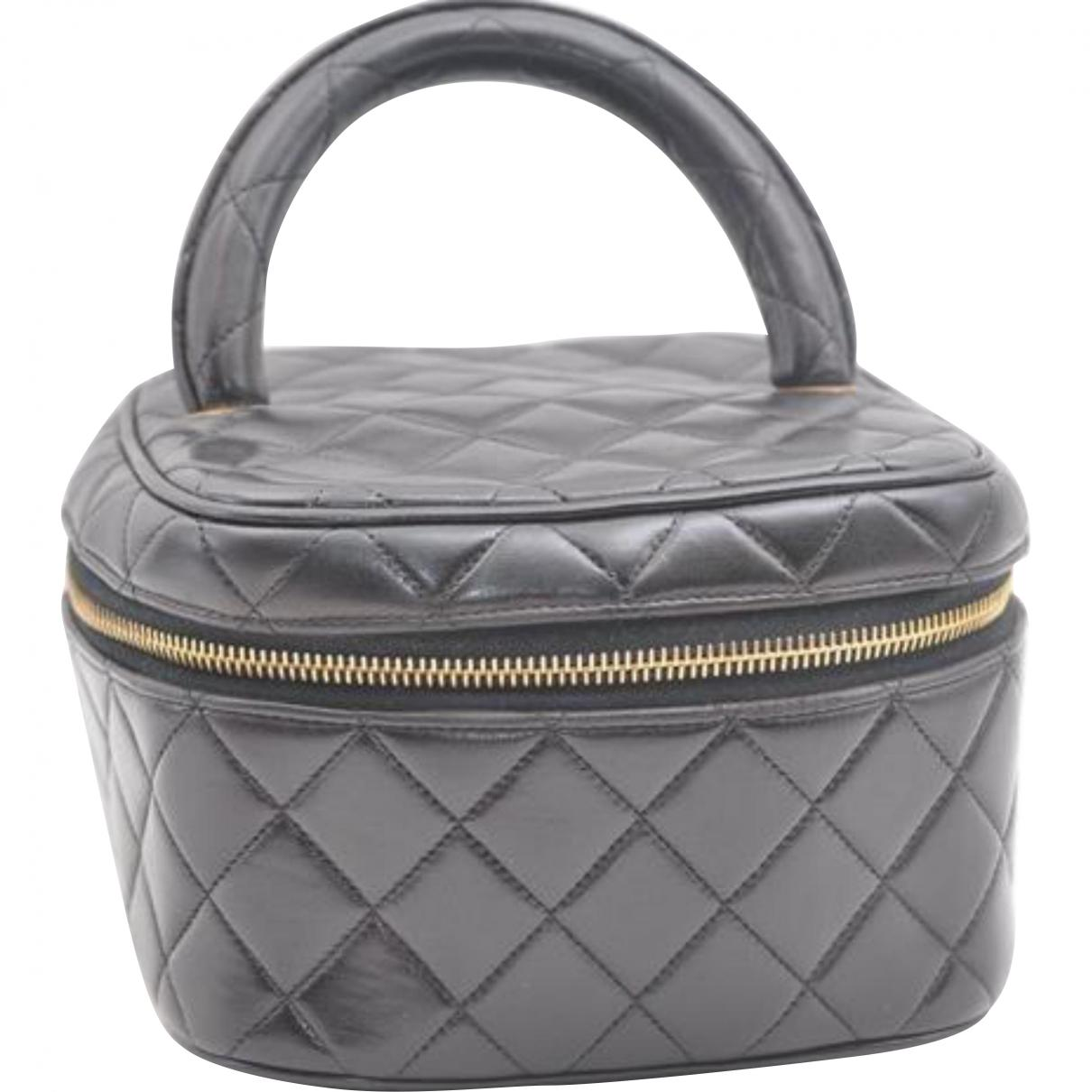 df55f4506042 Chanel. Women s Black Leather Vanity Case.  520 From Vestiaire Collective