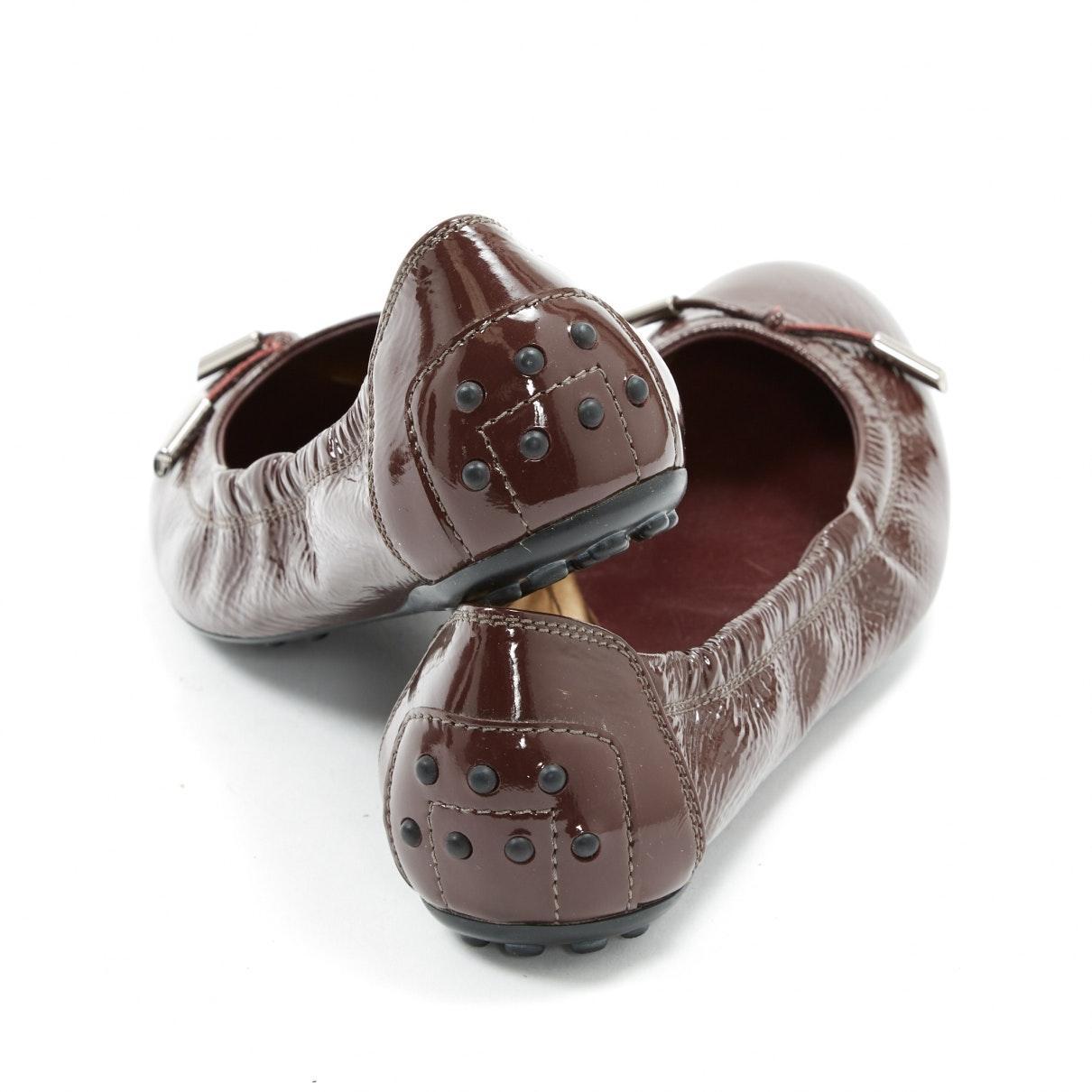Mocasines en charol marrón Tod's de Cuero de color Marrón