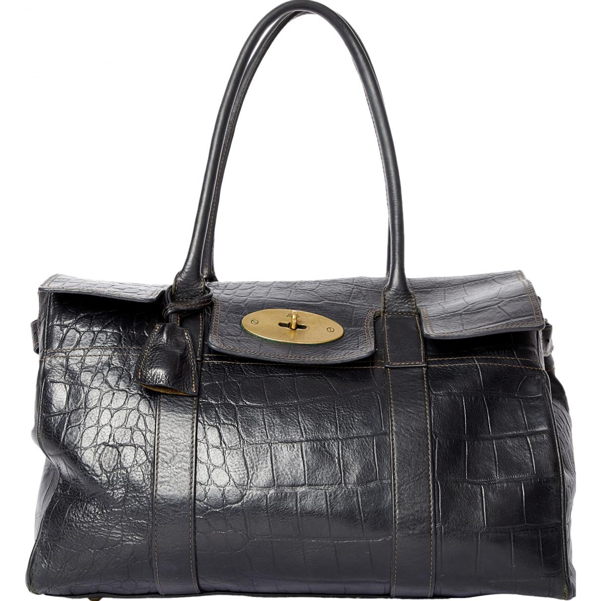 Mulberry. Women s Black Bayswater Leather Handbag.  641 From Vestiaire  Collective f1a3beba8c082
