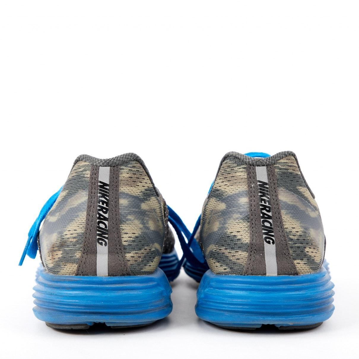 Nike Khaki Cloth Trainers in Blue