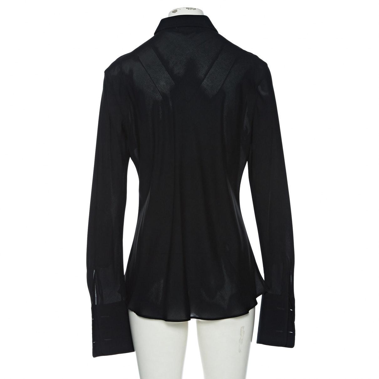 Camisa en viscosa negro Jil Sander de Tejido sintético de color Negro