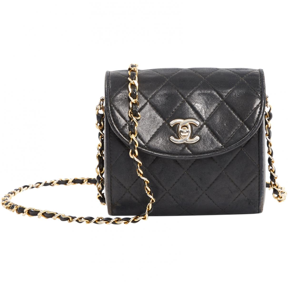 88b102b9ea73 Chanel. Women's Black Leather Clutch Bag. $1,396 From Vestiaire Collective