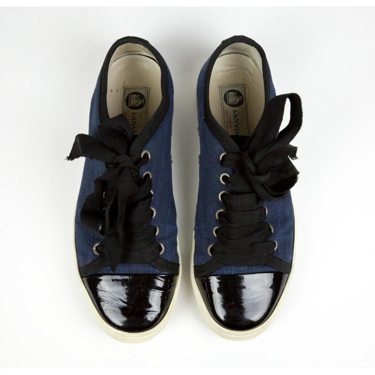 Lanvin Denim n Blue Cloth Trainers
