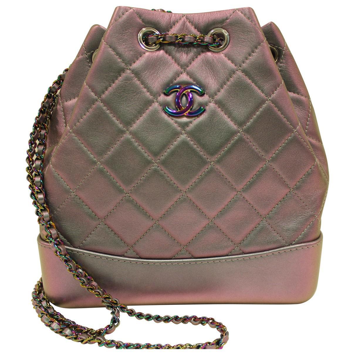 fd345740725e Chanel Gabrielle Leather Backpack in Purple - Lyst