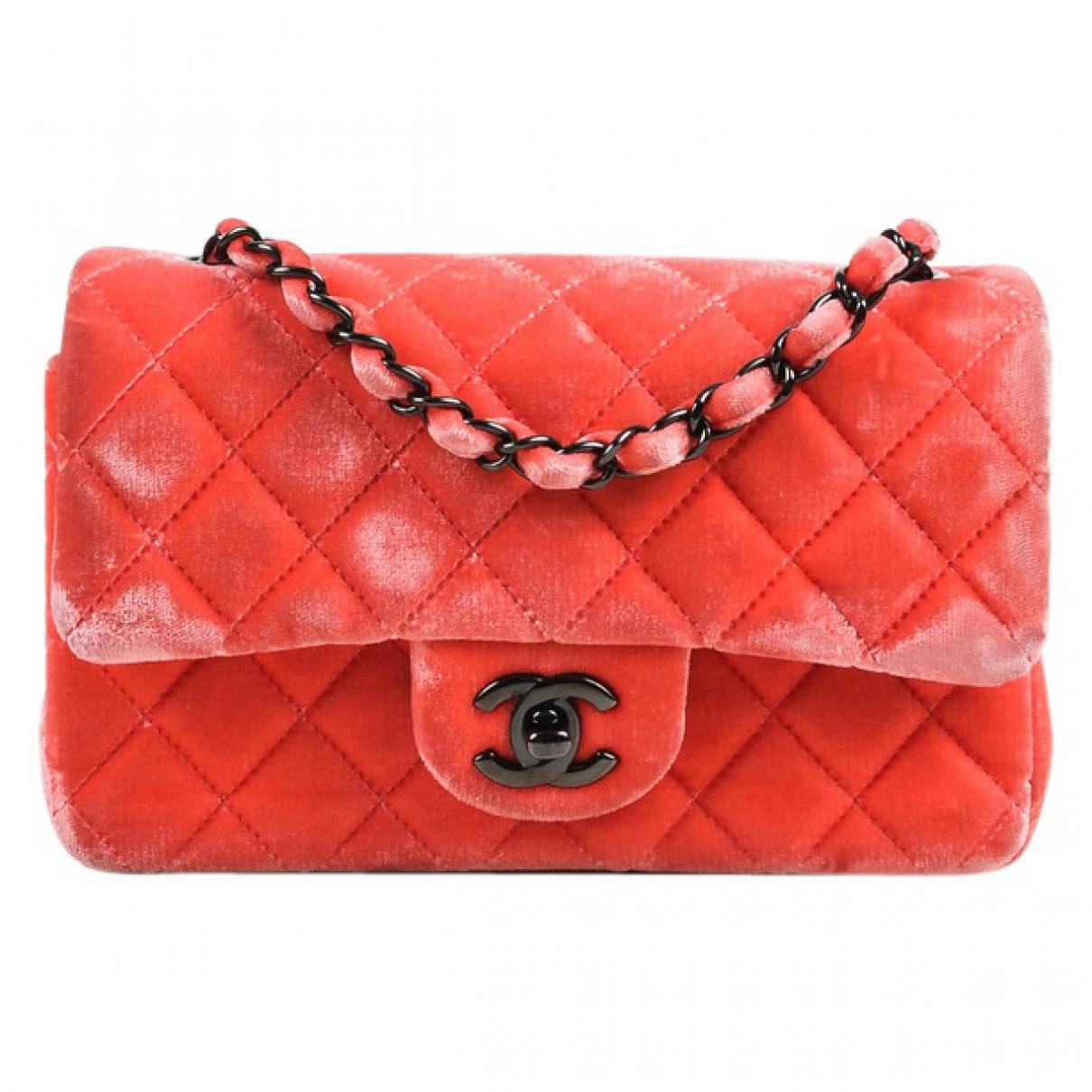 98332f62cf44a9 Lyst - Chanel Pre-owned Timeless Velvet Mini Bag in Pink
