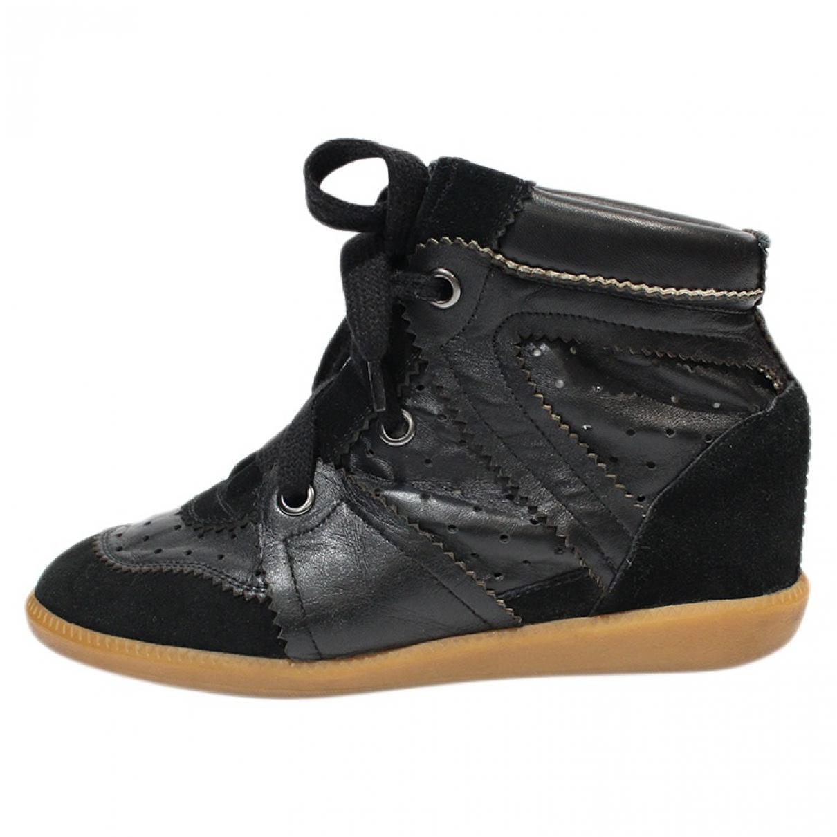 Isabel Marant Bobby Black Leather