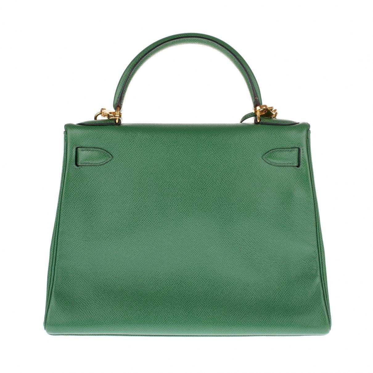 Sac à main Kelly 28 en Cuir Vert Cuir Hermès en coloris Vert S0Qu