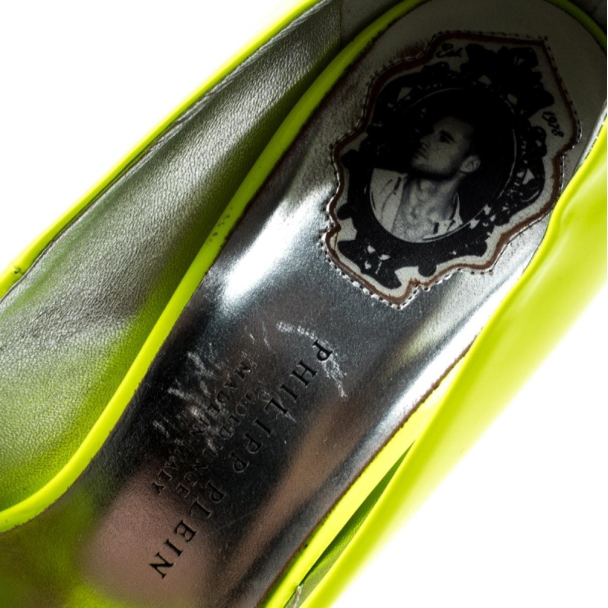 Tacones en charol verde Philipp Plein de Cuero de color Verde